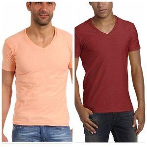 2 DIESEL V NECK T-SHIRTS
